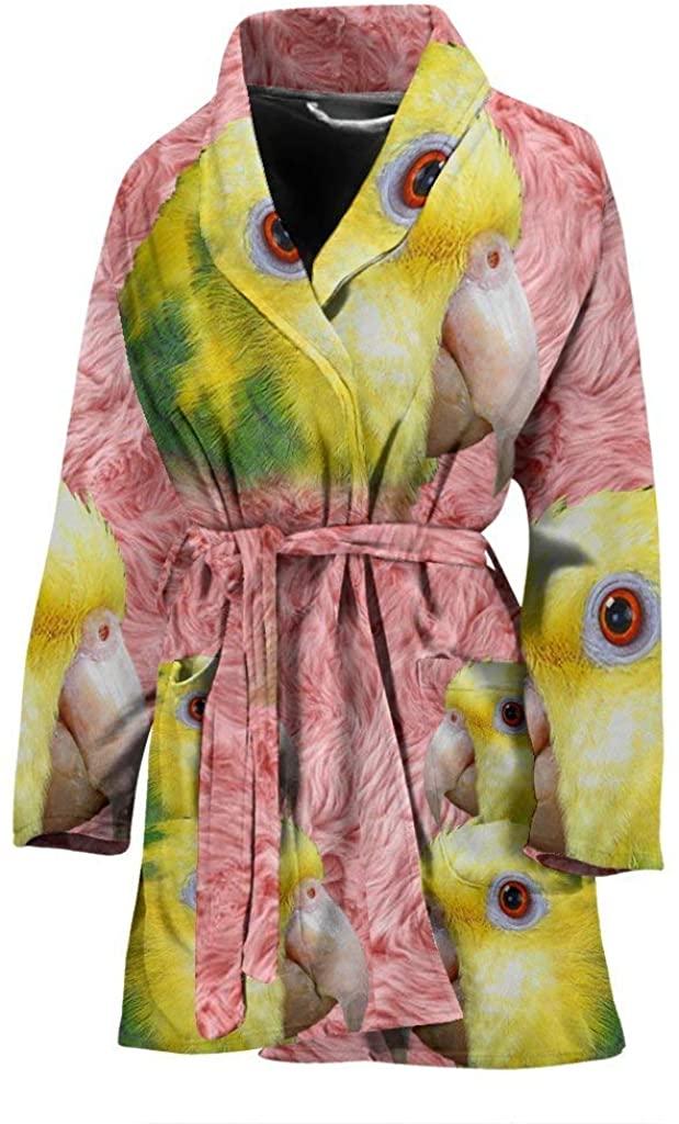 DHgate Parrot Print Women's Bath Robe