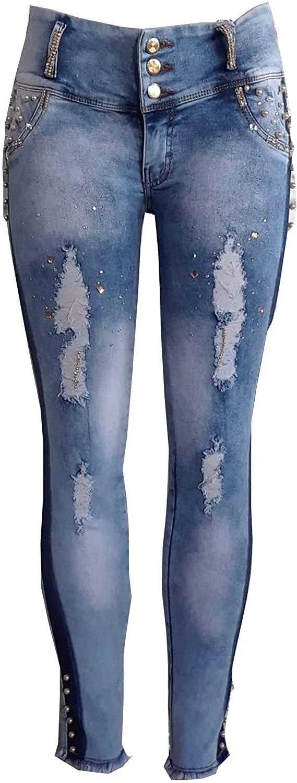 Bluette Push-Up Skinny Jeans Pearl Model