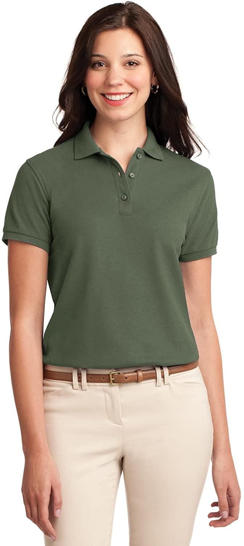 XtraFly Apparel Women's Silk Touch Polo Shirt L500 Clover Green