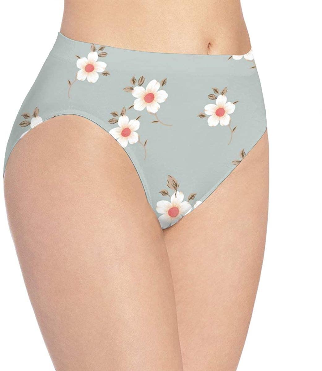 Womens Underwear Cute Pretty Flowers Chic Floral Hot Bikini Brief Hipster Panties Panty Ladies