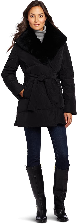 Kristen Blake Women's Preminum Shawl Collar Coat