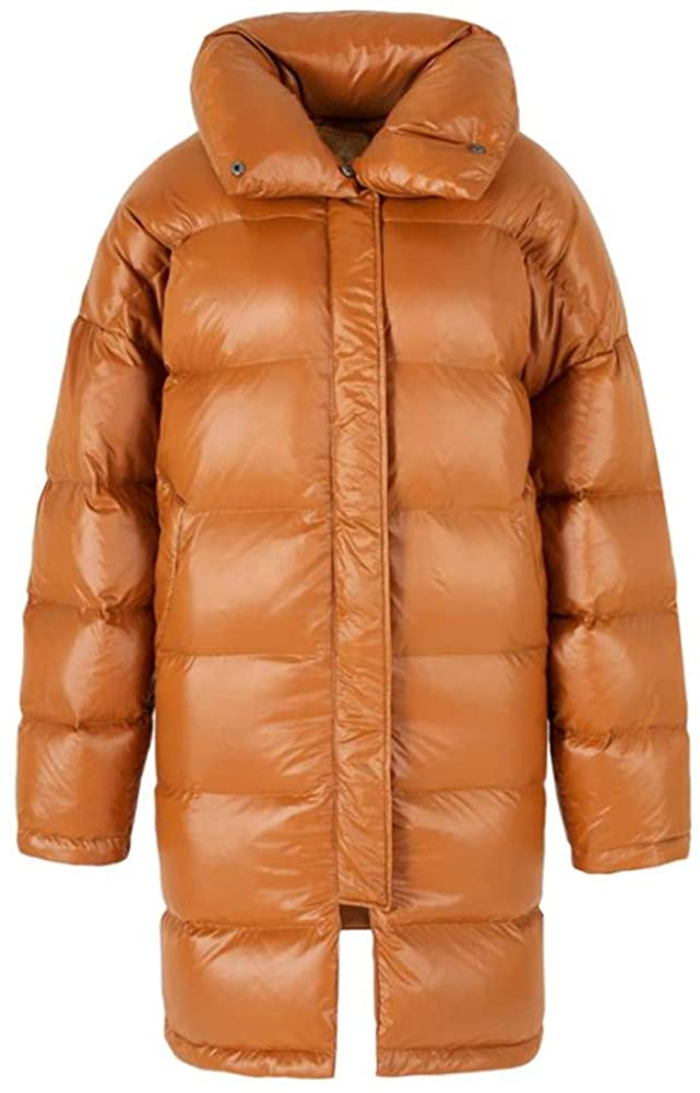 Dotoo Winter Clothing Ladies 90% White Goose Down Loose Thin Mid-Length Down Jacket