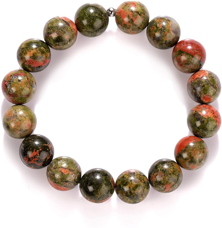 NirvanaIN UNAKITE Stretch Bracelet - Unakite Bracelet, Unakite Jasper, Unakite Jewelry, Unakite Stone, Natural Unakite Gemstone, Bracelet Unakite