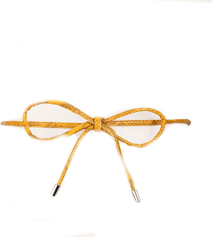 Two 12 Fashion Women's Snakeskin Vegan-Leather Rope Belt