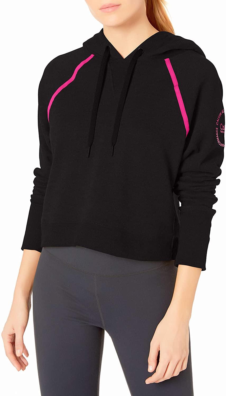 Calvin Klein Women's Logo Long Sleeve Raglan Crop Pullover Hoodie