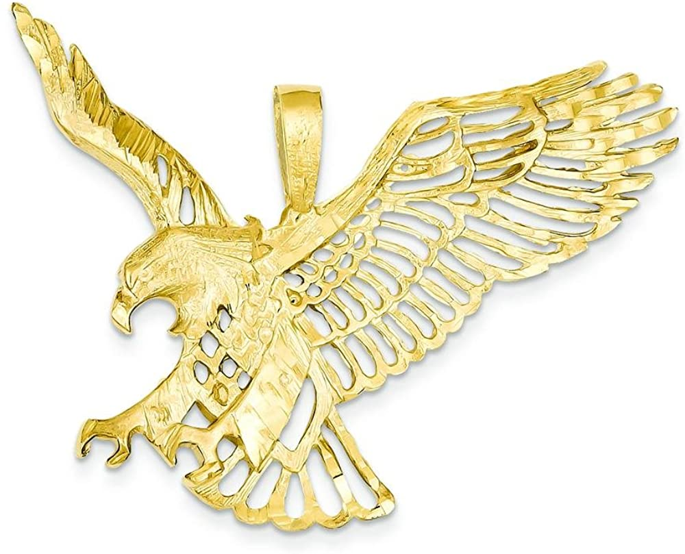14K Yellow Gold Large Flying Eagle Charm FindingKing