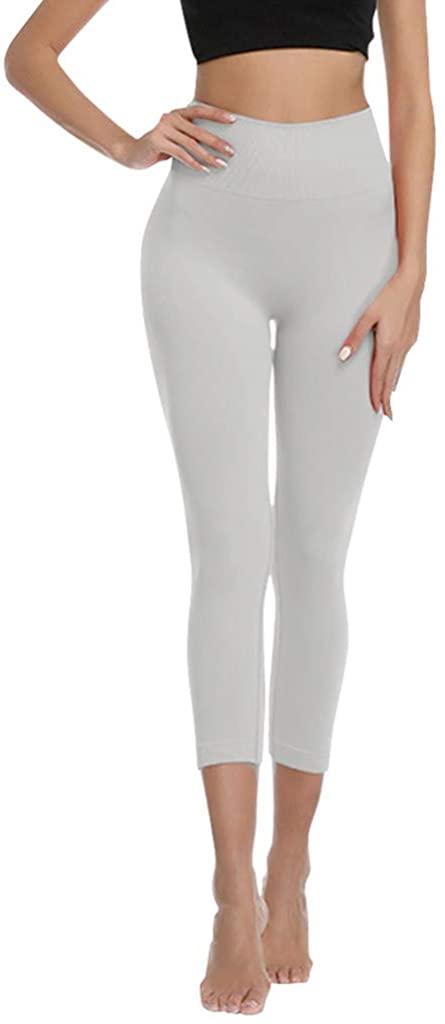 GREFER-Women High Waist Ultra Soft Lightweight Leggings - High RiseStretchy Skinny Yoga Pants