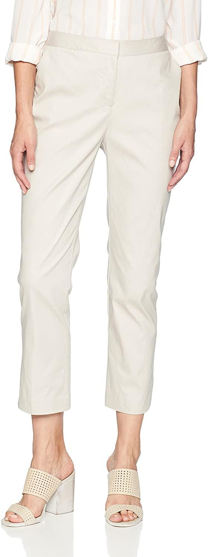 ELLEN TRACY Women's Slim Leg Trouser with Side Slits