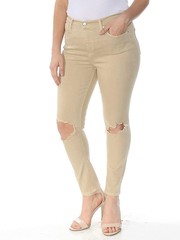 Free People Womens Denim Destroyed Skinny Jeans