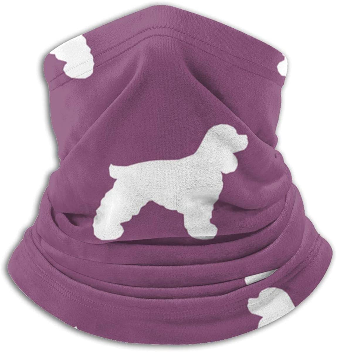 Cocker Spaniel Windproof Bandanas Face Mask Headwrap Face Balaclava Scarf Headband Microfiber Neck Warmer Mask Black