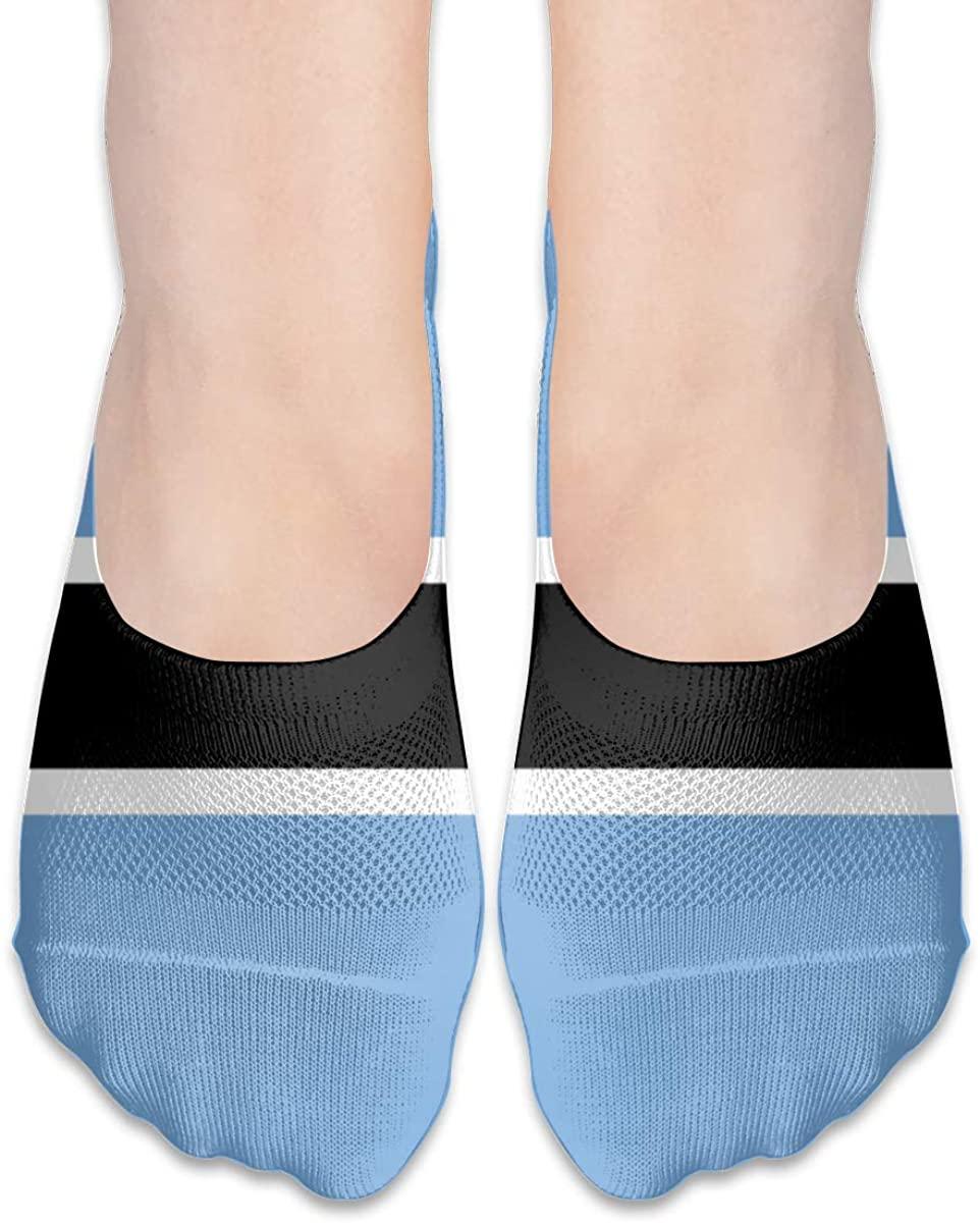 African National Botswana Flag No Show Socks Womens Low Cut Non Slip Short Ankle