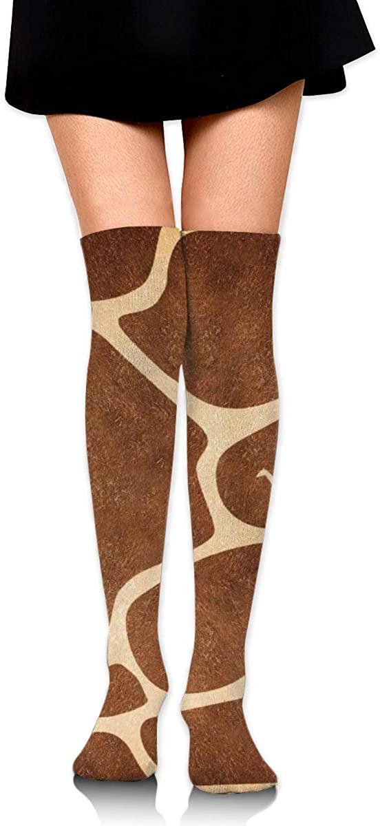 Dress Socks Giraffe Skin Long Knee Hose Soccer Hold-Up Stockings