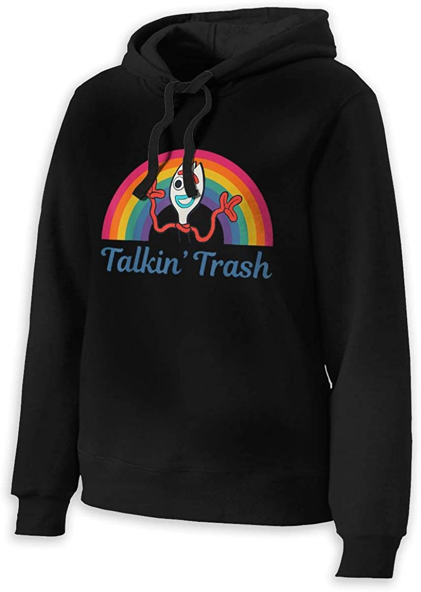 Womans Talkin Trash Rainbow Long Sleeve Hooded Sweatshirt Pullover