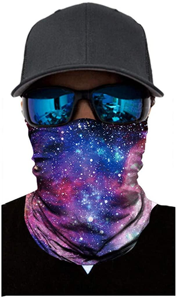 NSQFKALL Face Scarf-Seamless Neckerchief Biker Windproof 3D Printing Headscarf