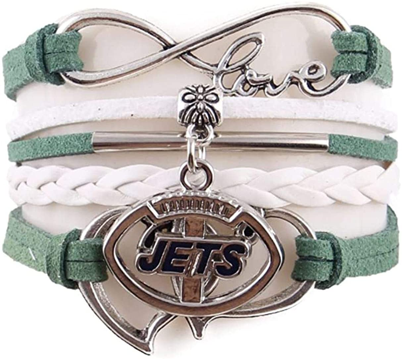 TheCreativeGene Love New York Jets Charm Bracelets