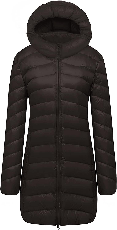 CATERTO Women Ultra Light Down Packable Hooded Coat