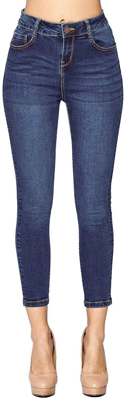 ICONICC Women's Butt Lifting Skinny Jeans Solid Denim