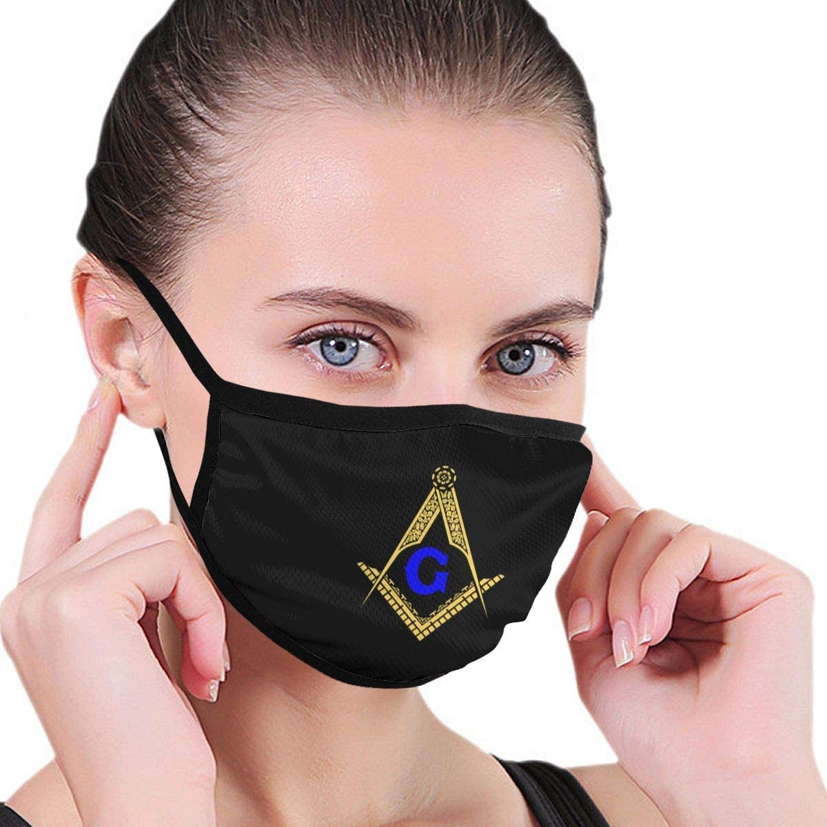 BOKUTT Freemason Masonic Adult Kids Graphics Washable Reusable Ear Ear Warmer Headband Household Mouth Wear