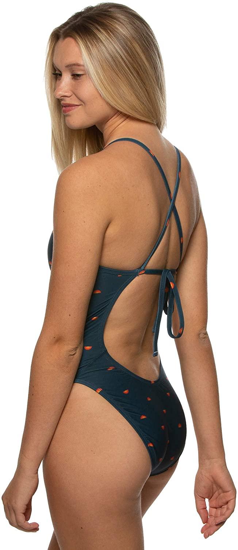 JOLYN Women's Tie-Back Jackson4 One-Piece Swimsuit Prints/Dawn