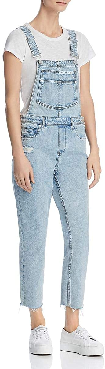 [BLANKNYC] Womens Denim Released Hem Overall Jeans Blue 29