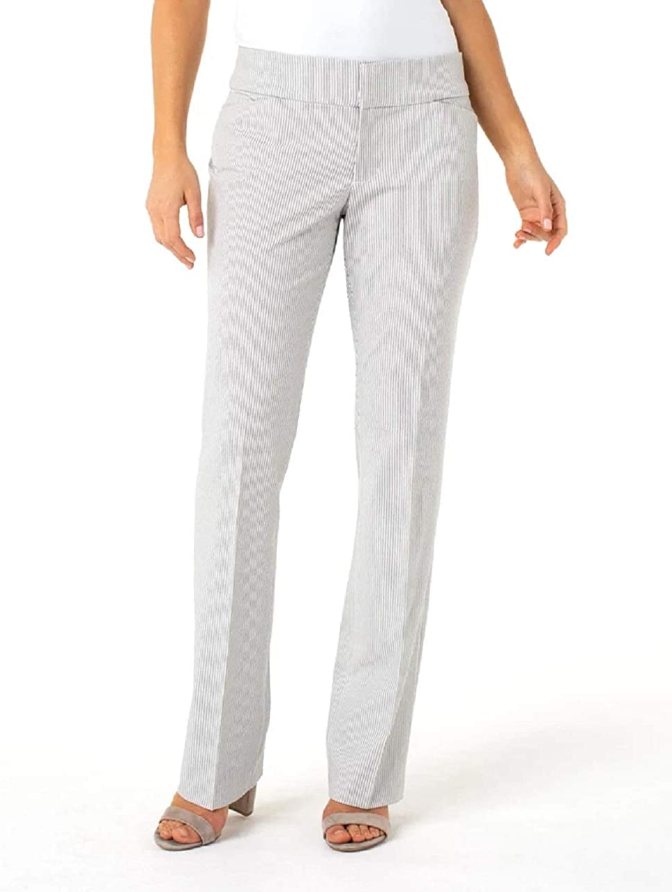 Liverpool Women's Graham Bootcut Trousers in Ministripe Print
