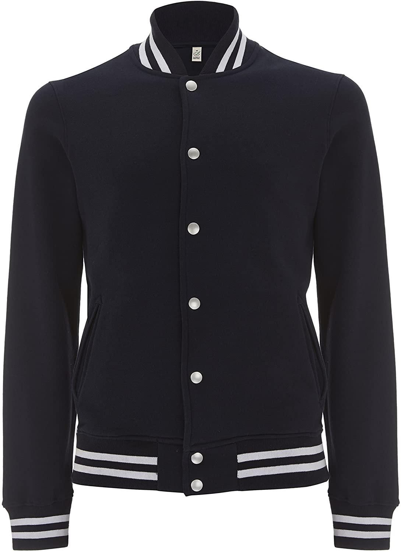 Underhood of London Womens Varsity Jacket - Letterman College Jacket for Women - 100% Organic Cotton