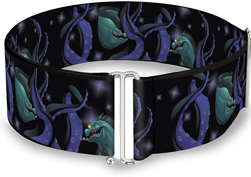 Buckle-Down Women's Cinch Belt Flotsam Jetsam Ursula Tentacles 28 to 52 Inch, Multicolor