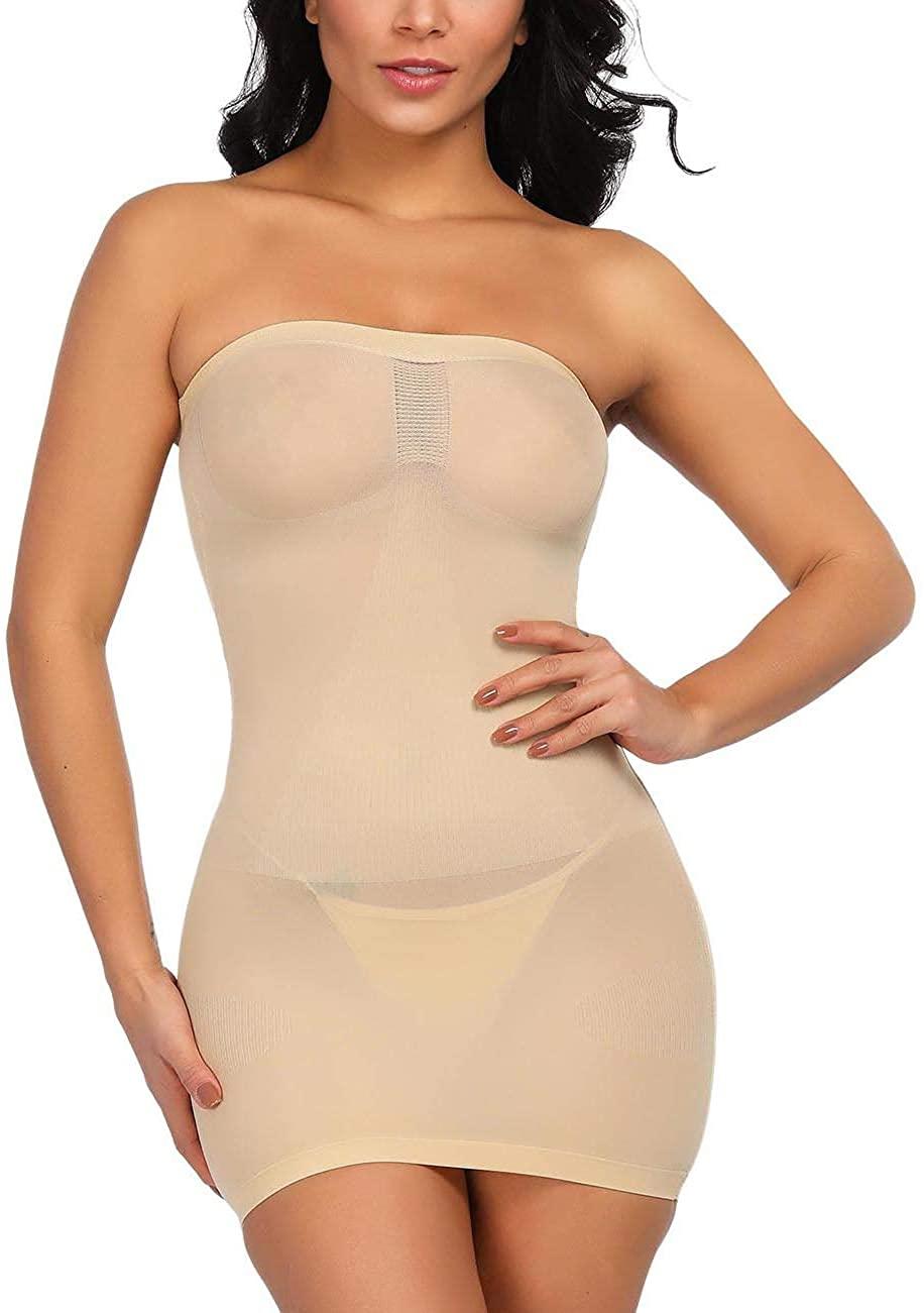 Lover-Beauty Seamless Shapewear Sexy Strapless Tube Body Shaper Shapping Underwear Control Slip Dress