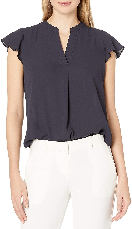 Calvin Klein Jeans Womens Cap Sleeve Top