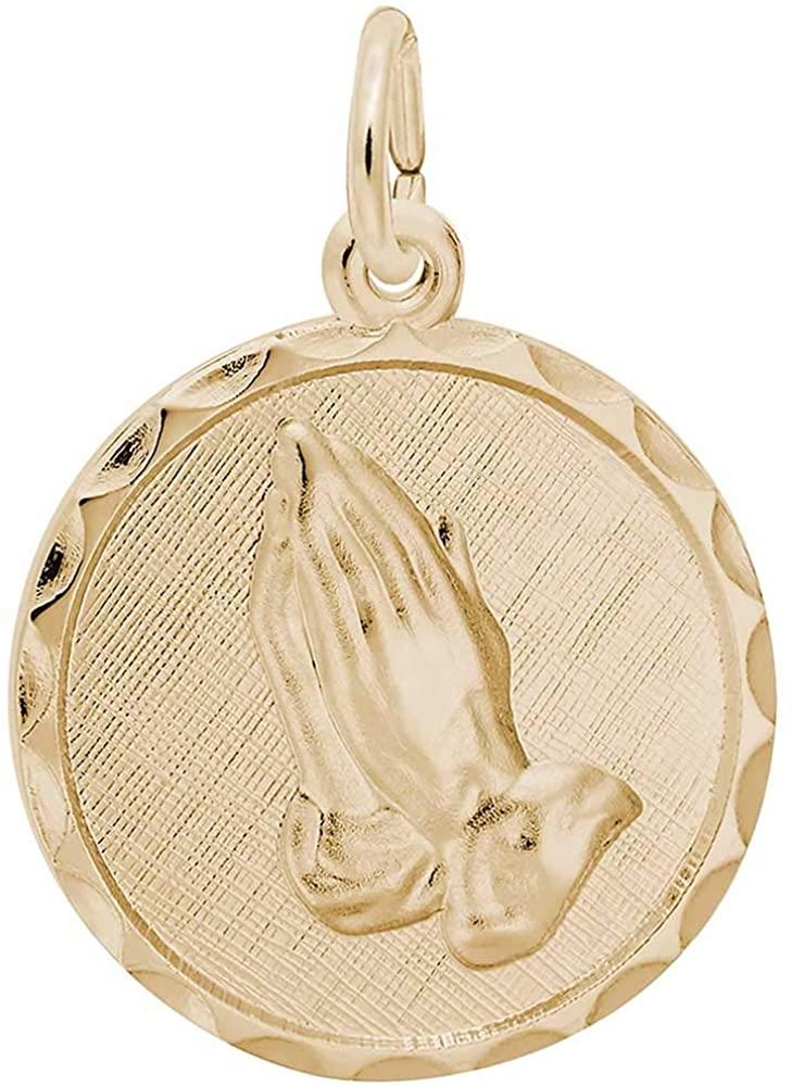 Rembrandt Charms Serenity Prayer Charm, 10K Yellow Gold