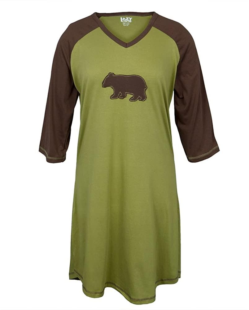 Bear Silhouette Women's Raglan Sleepshirt