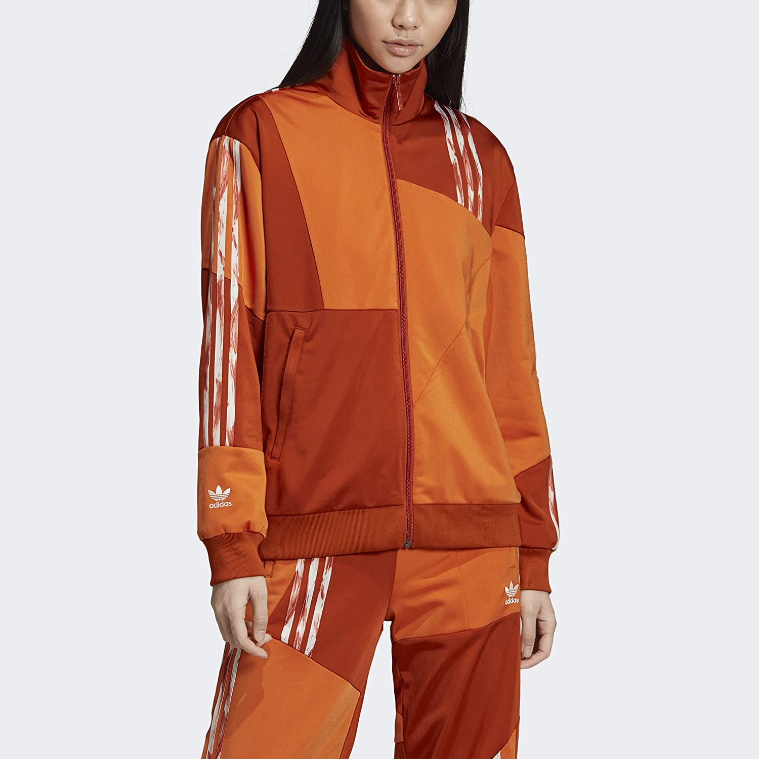 adidas Originals Women's Daniëlle Cathari Fox Red Firebird Track Jacket FN2778,Size Small