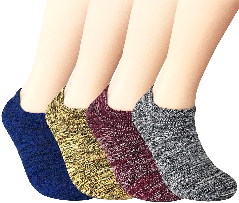 JOYCA & Co. Womens Ankle Low Cut No Show Athletic Socks, Casual Cotton Sneaker Socks