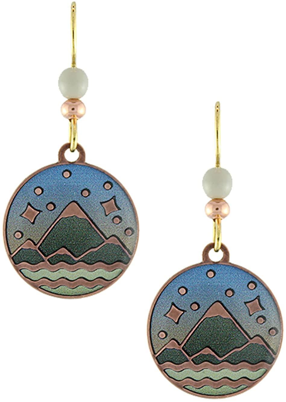 Earth Dreams- Mountain's Majesty Earrings (Copper/Grey Beads)