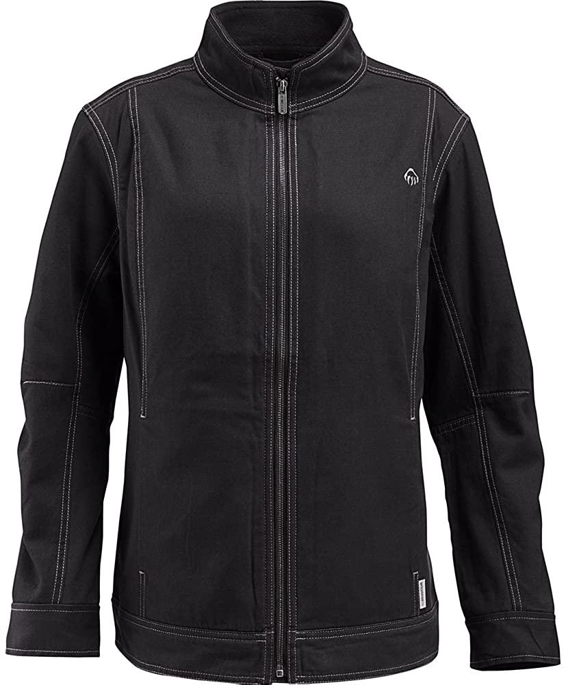 Wolverine Women's Porter Sueded Canvas Fleece Lined Jacket, Black, Large