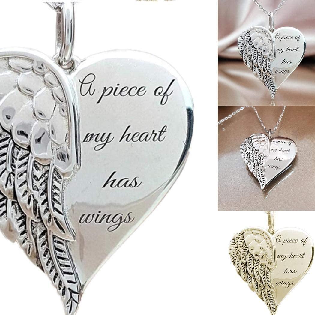 dozenla Women Casual Heart Shape Lettering Chain Pendant Necklace Belts