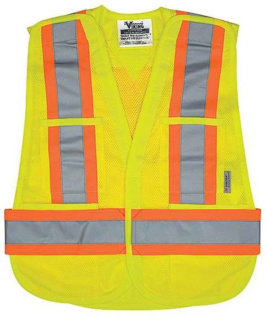 Safety Vest Size: XXXX-Large/XXXXX-Large, Color: Fluorescent Green