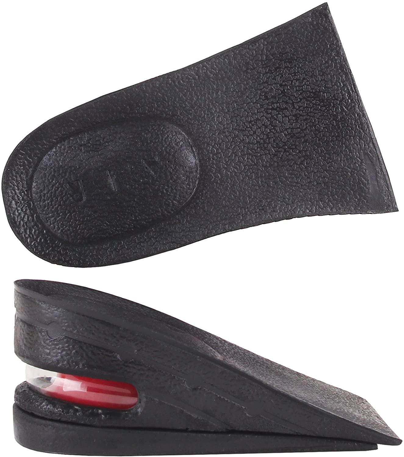 Y2C Unisex 2-Layer Height Increase Taller Half Air Insoles (Approx 2 inches) Black and Random Gift