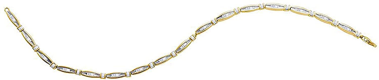 Dazzlingrock Collection 0.72 Carat (ctw) 3/4 Ct-dia Bracelet, Sterling Silver