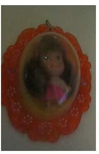 Liddle Kiddle Original Vintage Lottie Locket Orange Locket