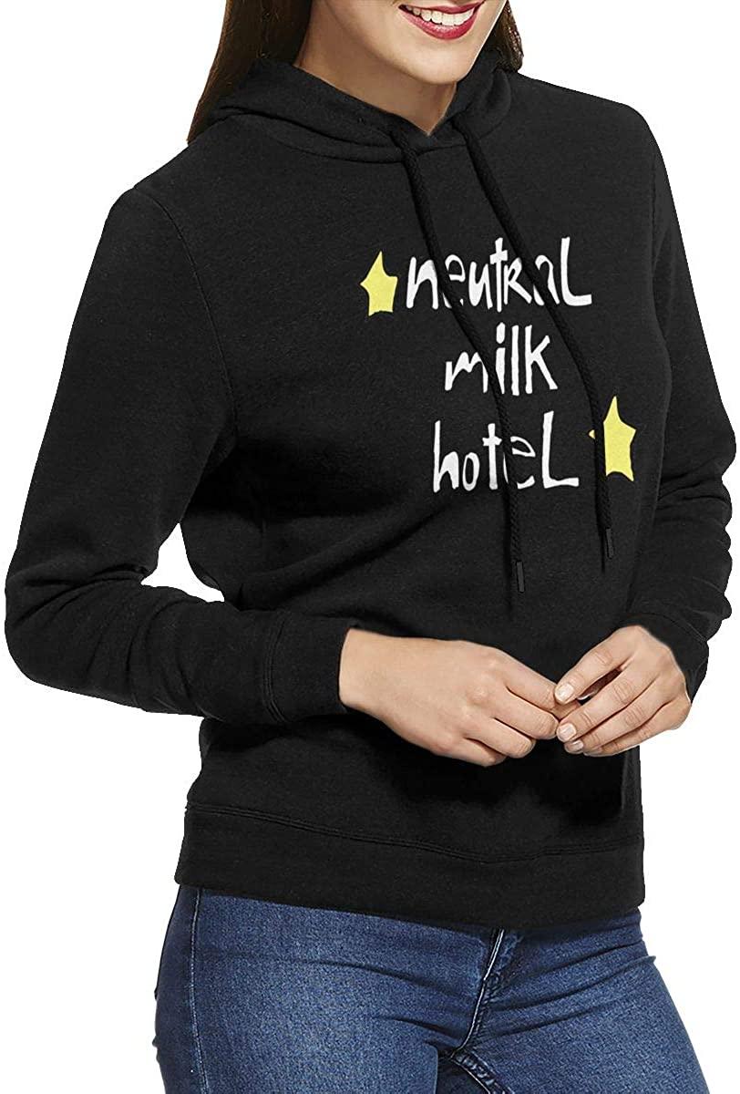 AP.Room Ladies Hooded Neutral Milk Hotel Sweatshirt Cute Girl Hoodie Casual Pullover