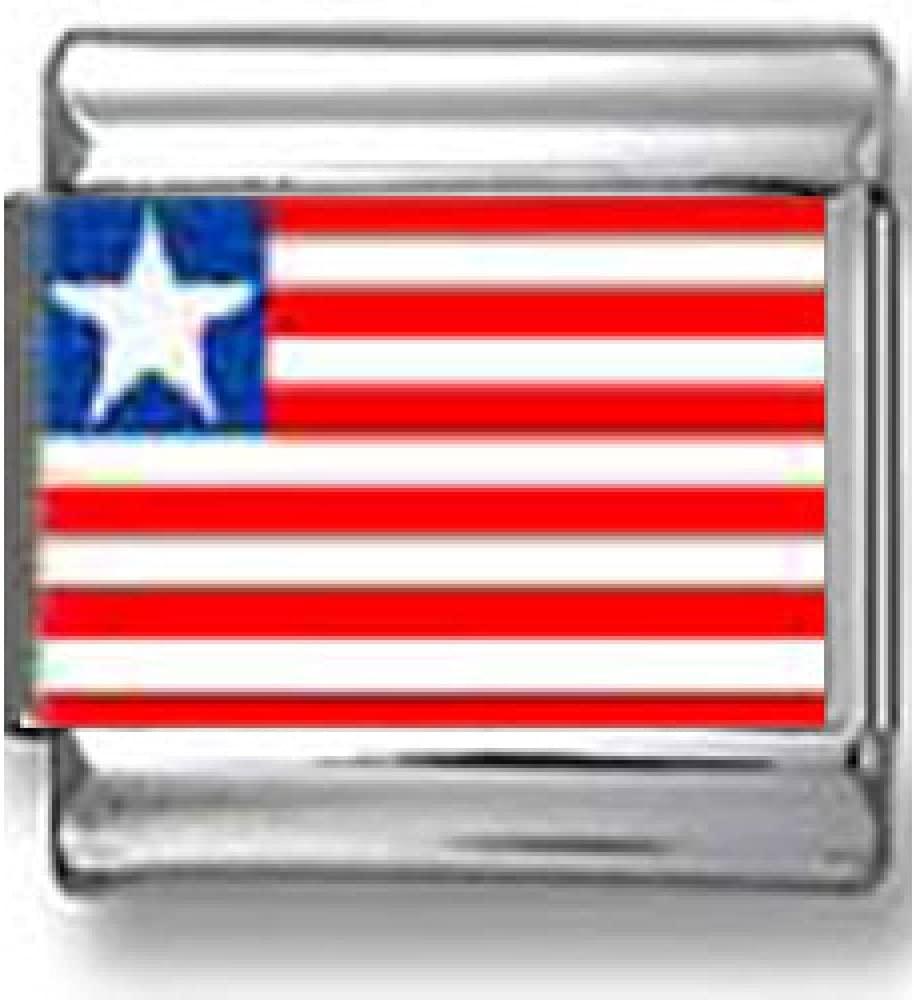 Liberian Flag Italian charm