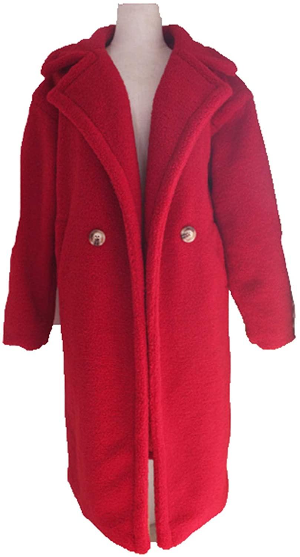 Teddy Coat Faux Fur Long Jacket Women Warm Autumn and Winter Lamb Fur Thick Outwear