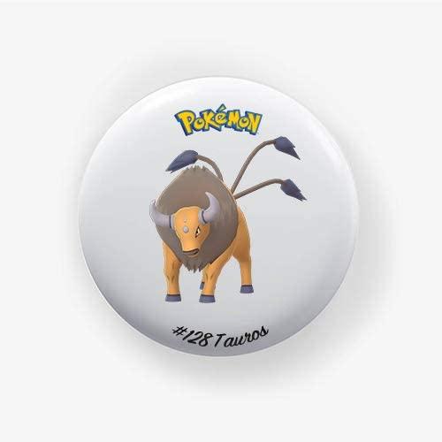 Tauros #128 : Go, Pinback Button Badge 1.50 Inch (38mm)
