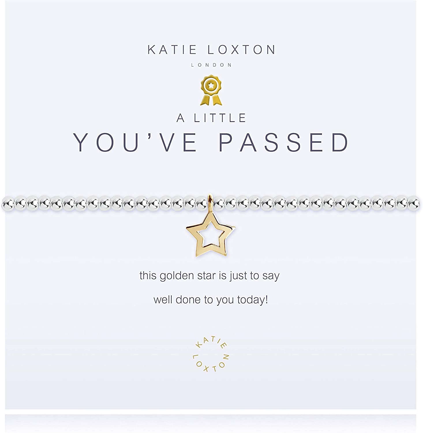 Katie Loxton a Little You've Passed Womens Stretch Adjustable Band Fashion Charm Bracelet