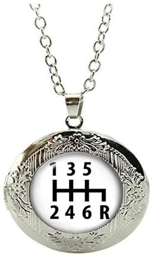 Gear Shift Locket Necklace, Car Lover Gift Locket Necklace, Locket Necklace for him, Pure Hand Made