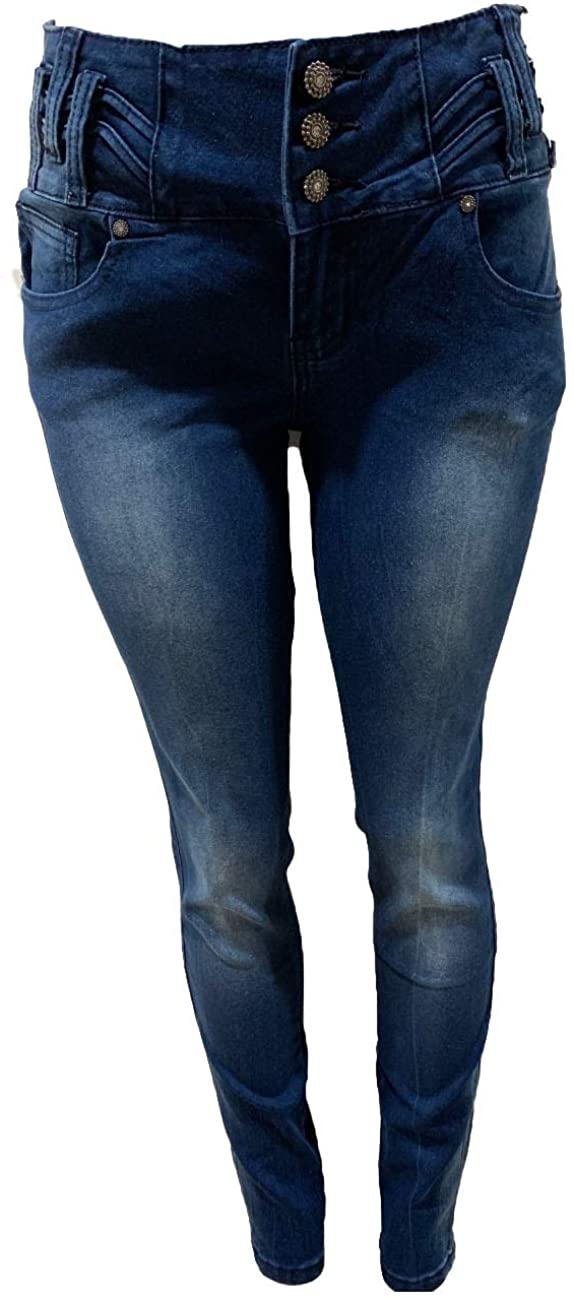 Tush Push New Colombian Designed Push up 1645 Medium Dark Blue Stretch Push up Skinny Jeans