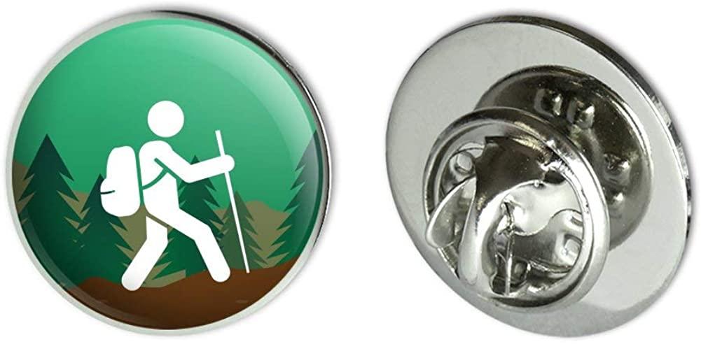 GRAPHICS & MORE Hiker Hiking Symbol Mountain Nature Metal 0.75