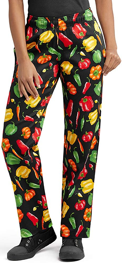 Women's Peppers Print Chef Pant (XS-3X)