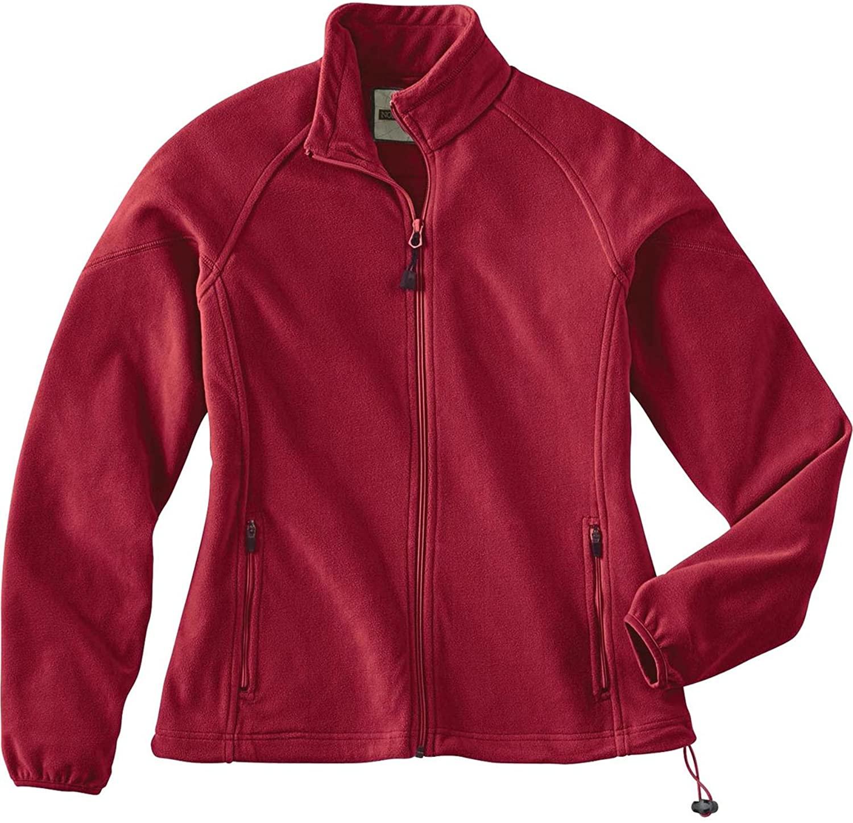 North End 78025 Ladies Microfleece Unlined Jacket Crimson 2XL